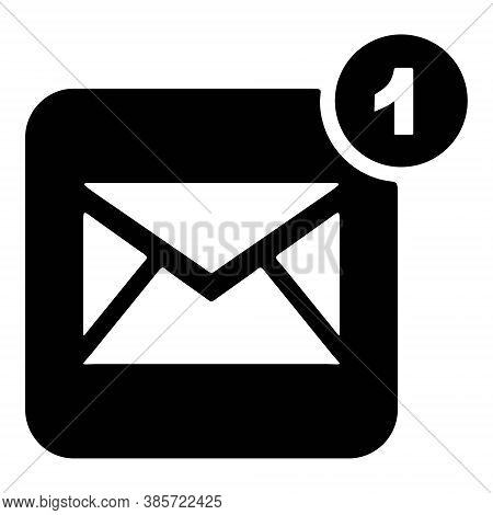 Letter, Email, Envelope Icons. Unread Message, Inbox, Mail Sign. Business Letter Symbol. Online Comm