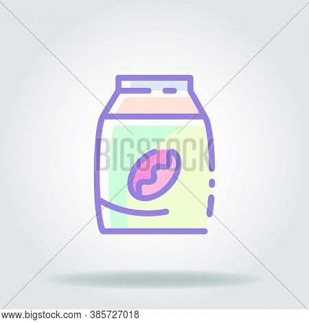 Coffee Pack Icon Or Logo In  Pastel Color