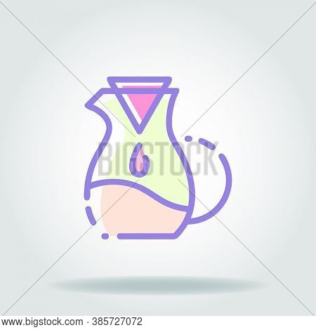 Pour Over Icon Or Logo In  Pastel Color
