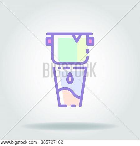 Vietnam Drip Icon Or Logo In  Pastel Color