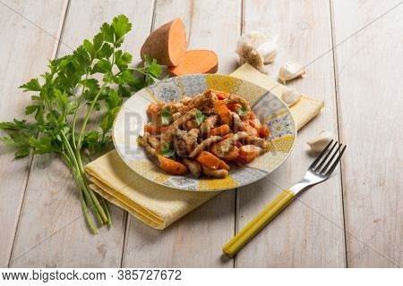 stew veal with sweet potatoes