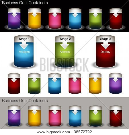 An image of a container chart banner set.