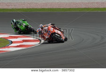 Australian Casey Stoner Of Ducati Marlboro At 2007 Polini Malaysian Motorcycle Grand Prix Sepang Cir