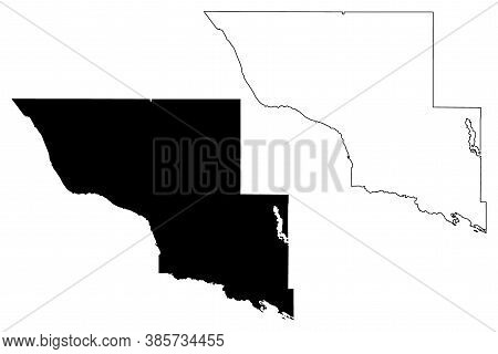 Big Stone County,  Minnesota (u.s. County, United States Of America, Usa, U.s., Us) Map Vector Illus