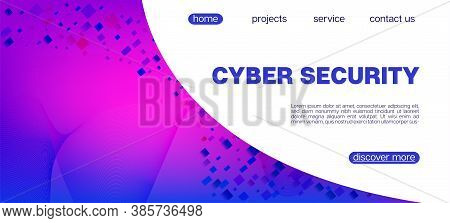 Flying Particles Distressed Purple Vector. Cyber Geometric Background. Data Analytics Cool Banner. P
