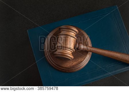 Judicial Hammer And Law Books. Human Rights Concept. Justice And Law Concept