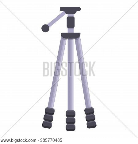 Support Tripod Icon. Cartoon Of Support Tripod Vector Icon For Web Design Isolated On White Backgrou
