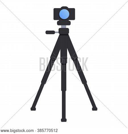 Camera Tripod Icon. Cartoon Of Camera Tripod Vector Icon For Web Design Isolated On White Background