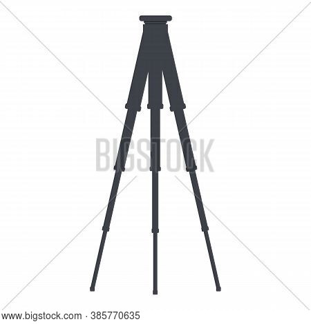 Steel Tripod Icon. Cartoon Of Steel Tripod Vector Icon For Web Design Isolated On White Background
