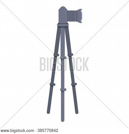 Slr Camera Tripod Icon. Cartoon Of Slr Camera Tripod Vector Icon For Web Design Isolated On White Ba