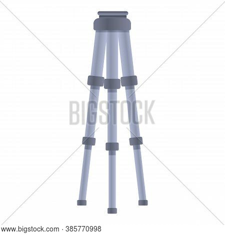 Compact Tripod Icon. Cartoon Of Compact Tripod Vector Icon For Web Design Isolated On White Backgrou