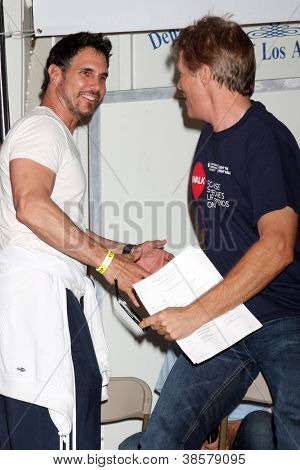 LOS ANGELES - OCT 6:  Don Diamont, Jack Wagner attend the Light The Night Walk at Sunset Gower Studios on October 6, 2012 in Los Angeles, CA