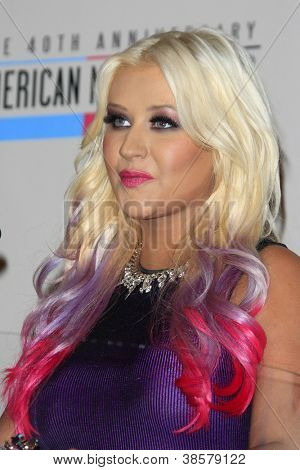 LOS ANGELES - OCT 9:  Christina Aguilera attends the 40th Anniversary American Music Awards nominations press conference at JW Marriott at LA Live  on October 9, 2012 in Los Angeles, CA