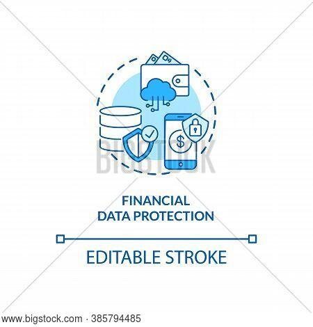 Financial Data Protection Concept Icon. Ideas To Protect Valuable Data. Biometrics Usage Ideas Idea