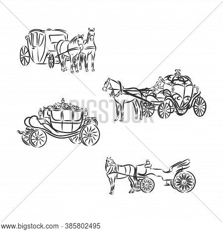 Carriage. Vector Illustration. Carriage Vector Sketch Illustration