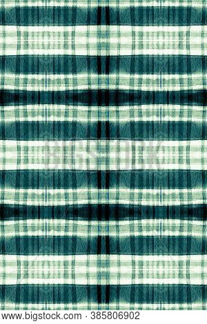 Watercolor Scottish Print. Green Check Repeat. Seamless Celtic Cloth Design. Gingham Wallpaper. Abst