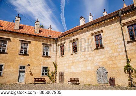 Ancient Medieval Gothic Castle Grabstejn. Renaissance Chateau, Chotyne, Liberec Region, Czech Republ