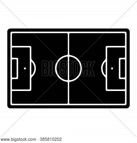 Football Stadium Icon. Soccer Pitch, Football Field, Sport Playground Symbol. Perfect Vector Illustr
