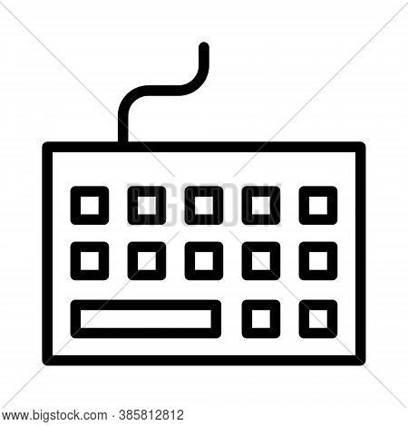 Computer Keyboard Icon. Laptop Keypad Sign. Pc Peripheral Illustration For Perfect Web And Mobile Ui