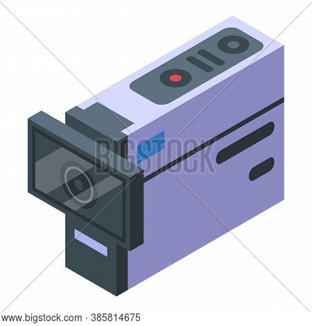 Wide Action Camera Icon. Isometric Of Wide Action Camera Vector Icon For Web Design Isolated On Whit