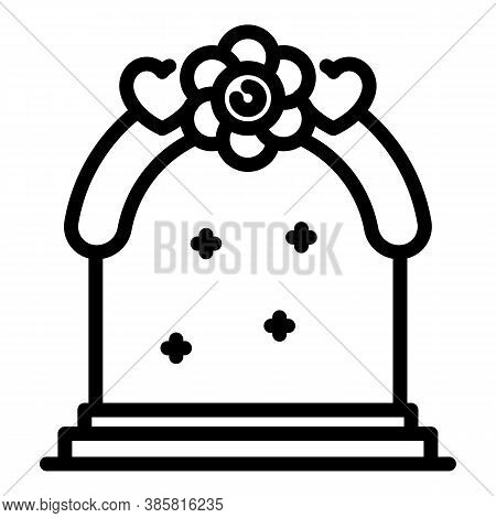 Wedding Arch Icon. Outline Wedding Arch Vector Icon For Web Design Isolated On White Background