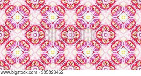 Seamless Watercolor Peru Pattern. Fashion Abstract Ethnic Print. Folk Tie Dye Painted Texture. Multi