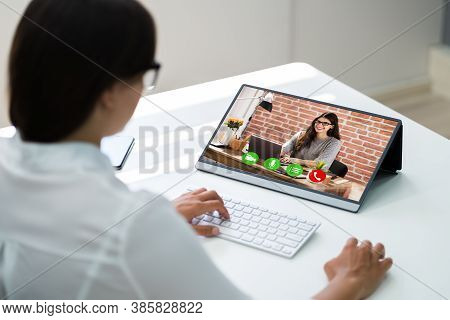 Video Conference Elearning Webinar Call Or Online Interview