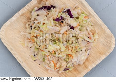 Overhead View Of Cole Slaw Will Taste As Delicious As It Looks.