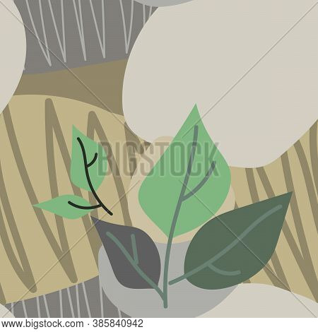 Vector Background Illustration For Banner, Covers, Advertisements. Colourful Design Of Rocks And Lea