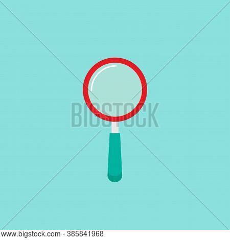 Magnifier Sign Isolated On White. Magnifying Glass Icon. Zoom Button For Web Pages.