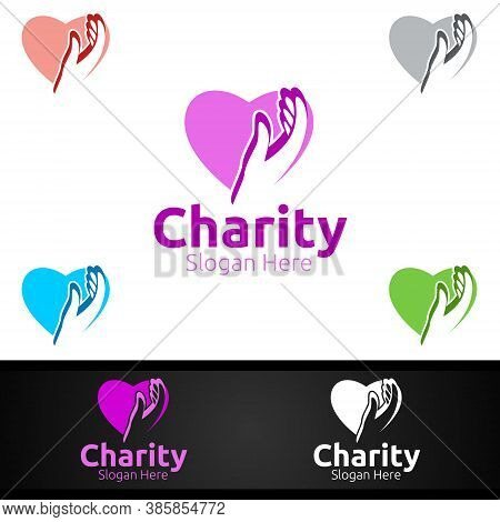 Helping Hand Charity Foundation Creative Logo For Voluntary Church Or Charity Donation