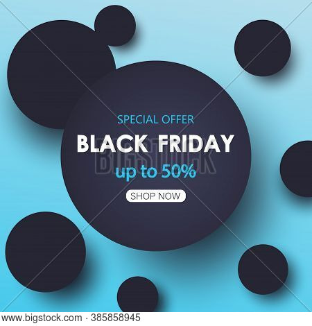 Black friday sale banner. Vector banner EPS10 . Black friday sale banner. Black friday sale banner. Celebration Balloon Sales Black Friday on a Grey background. Balloons Black Friday. Balloons Black friday with gold realistic bow on the black background.