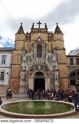 Coimbra / Portugal - 14 May 2015: The Ancient Church In Coimbra City, Portugal