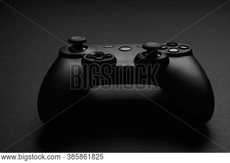 Black Video Game Controller. Gamepad