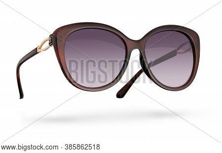 Retro Female Sunglasses Isolated On White