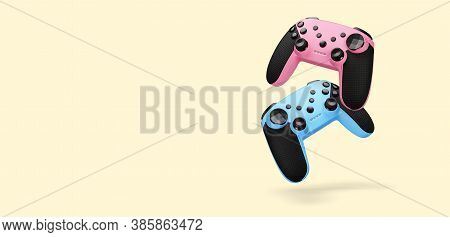 Two Modern Joysticks. Video Game Controllers