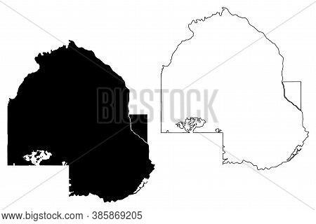 Hennepin County,  Minnesota (u.s. County, United States Of America, Usa, U.s., Us) Map Vector Illust