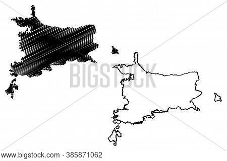 Villavicencio City (republic Of Colombia, Department Of Meta) Map Vector Illustration, Scribble Sket