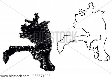 Guayaquil City (republic Of Ecuador, Guayas Province) Map Vector Illustration, Scribble Sketch City