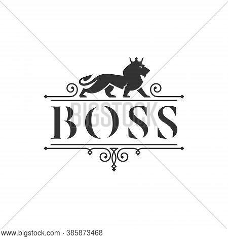 Lion Logo - Wild Animal Head King Wildlife Predator Cat Strength Carnivore Zoo Power Leo Mascot Safe