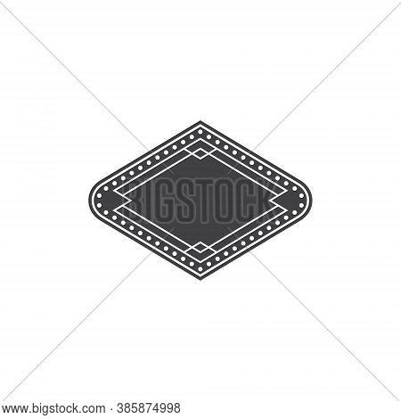 Casino Badge Diamond Shape Illustration Design - Play Symbol Game Poker Game Las Vegas Gambling Club