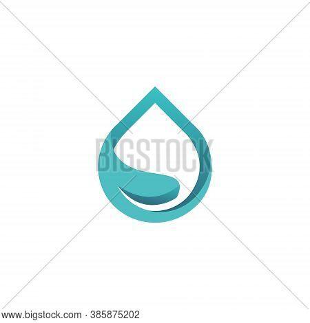 Water Drop Logo - Liquid Drop Splash Aqua Clear Fresh Droplet Transparent Vector Clean Pure Raindrop