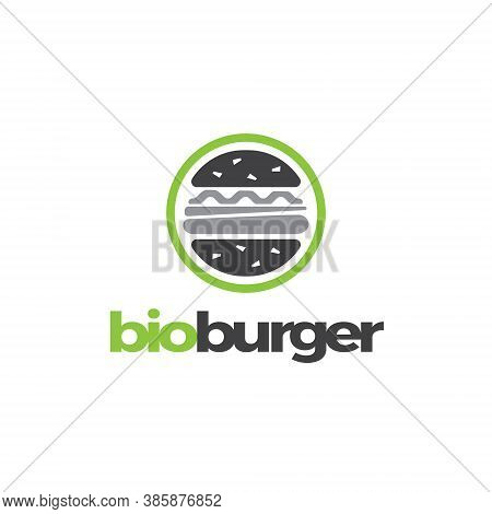 Hamburger Logo Design Illustration - Burger Meat Grilled Bbq Beef Tomato Sandwich Food Lettuce Chees