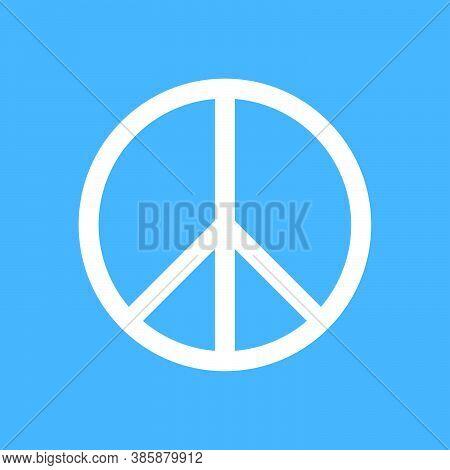 Pacifist Sign. International Symbol Peace. Design Element. Vector Illustration