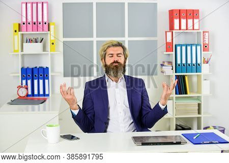 Comprehended Zen. Regular Office Life. Resource Planning. Consultant Worker. Mature Man Business Int