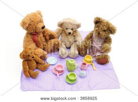 Picnic de osos de peluche
