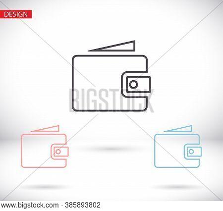 Wallet Icon Vector 10eps. Lorem Ipsum Flat Design Jpg