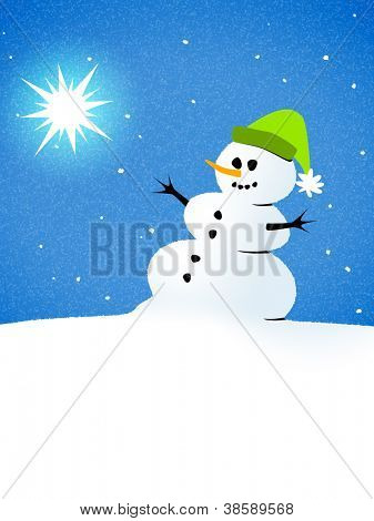 An image of a beautiful snowman card