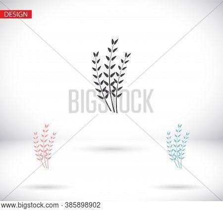 Vector Icon Barley, Design Illustration For Web Barley. Flat Style Barley Corn