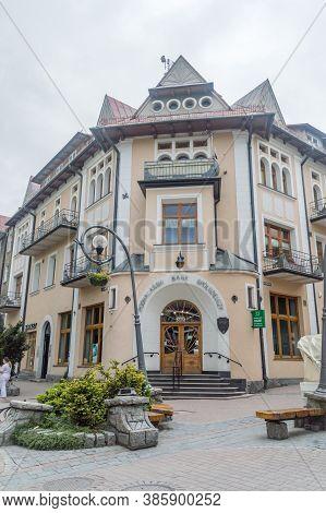 Zakopane, Poland - June 14, 2020: Padhale Cooperative Banking (polish: Podhalanski Bank Spoldzielczy